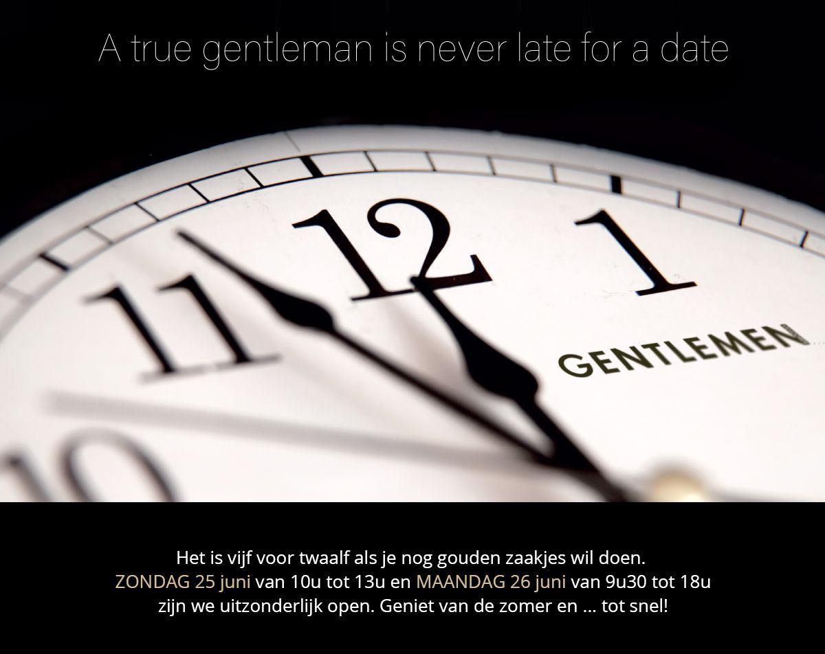 Gouden zaakjes te doen bij Gentlemen op zondag 25 en maandag 26 juni